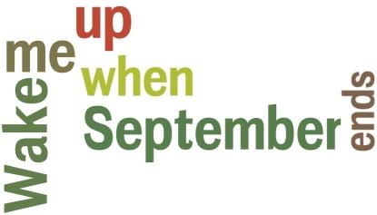 Svegliami quando settembre è finito