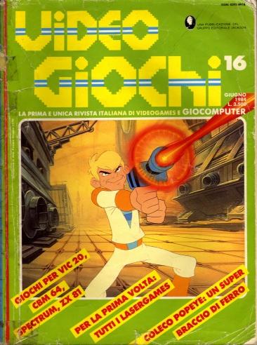 Copertina del n.16 della rivista Videogiochi, la mia prima rivista di videogiochi