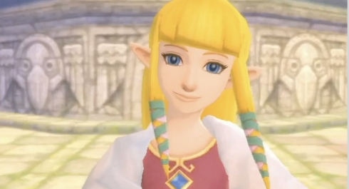 Zelda...Oh her eyes her eyes Make the stars look like they're not shining. Her hair , her hair falls perfectly without her trying She's so beautiful and I tell her every day (Just the way you are - Bruno Mars)