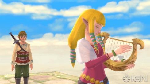 Il bamboccione a sinistra è Link, Zelda è l'adorabile biondina in primo piano.