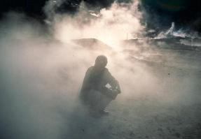 "Nan Goldin: ""Bruce in the Smoke"" (1995, Solfatara di Pozzuoli, Napoli)"