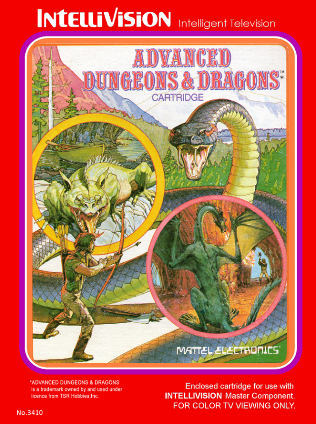 Advanced Dungeons & Dragons (Intellivision - (c) 1982)