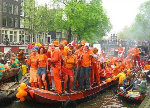 Olanda: Amsterdam - Koninginnedag nei canali
