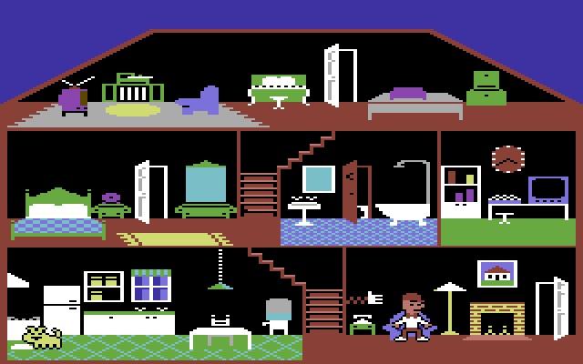 Il nemico è dentro i nostri PC e console...(Little Computer People per Commodore 64 © 1985 David Crane per Activision)
