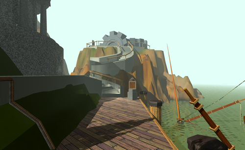 Myst di Cyan Worlds (USA, 1993) in esposizione al MoMA Architecture and Design Gallery east , 3* piano