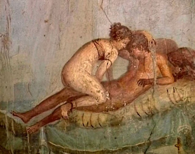 Pittura murale nel Lupanare negli Scavi di Pompei