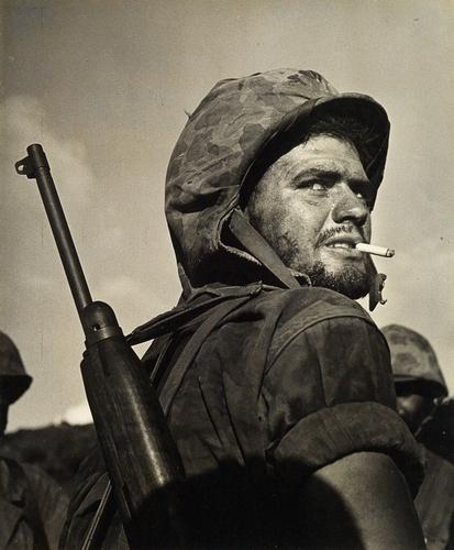 W. Eugene Smith Alert Soldier, Saipan 1944