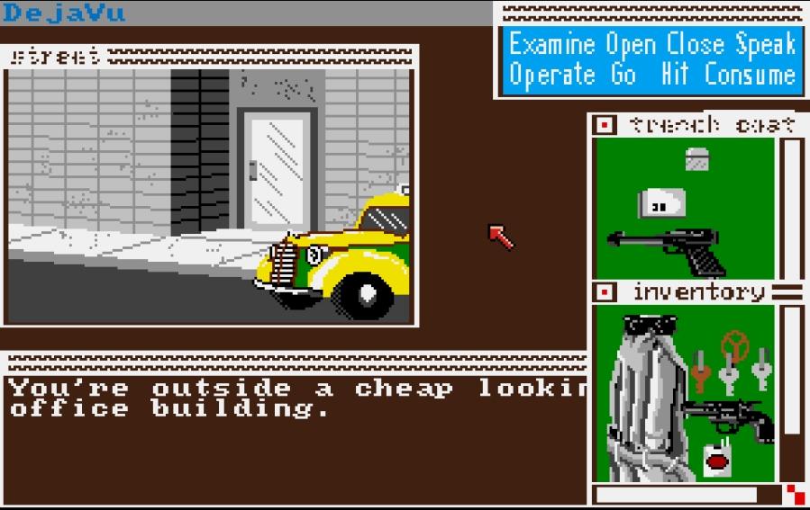 Déjà Vu schermata (Amiga - 1987)