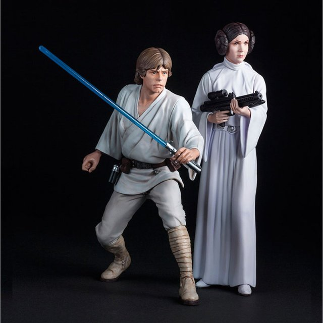 ARTFX+ Star Wars: Luke Skywalker & Princess Leia by Kotobukiya