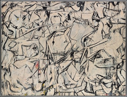 Attic (La soffitta) di Willem de Kooning (1949) esposto a The Metropolitan Museum of Art, New York