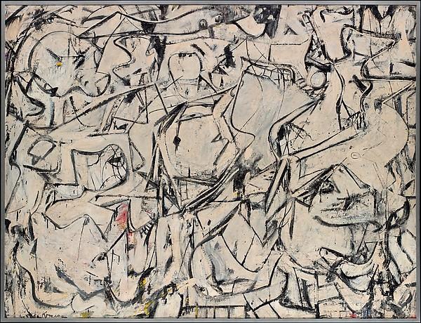 Attic (La soffitta) di Willem de Kooning (1949) esposto a The Metropolitan Museum of Art, New York