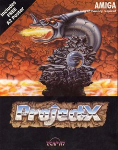 Project-X Amiga game box |Source=Scan by User:Bill. Copyright belongs to Team 17. https://en.wikipedia.org/wiki/Project-X
