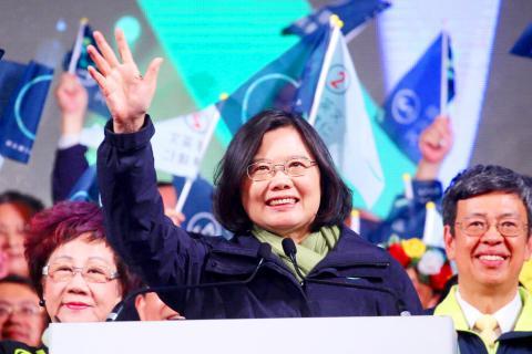 Tsai Ing-wen, prima presidente donna di Taiwan! (foto: CNA)