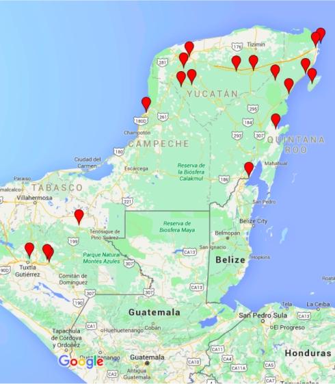 Cartina Yucatan E Chiapas.Viva Il Messico Indice Degli Episodi Pictures Of You