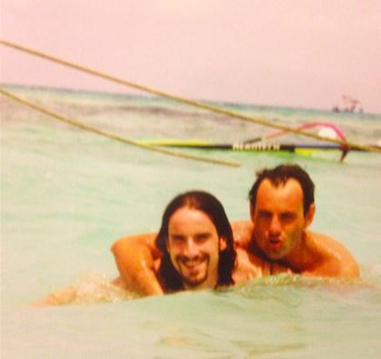 Diego (Gesù) e Claudio (quello con l'espressione beota)