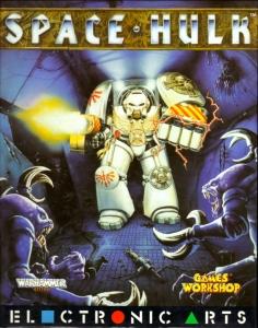 Il Terminator in tutta la sua devastante bellezza sulla copertina di Space Hulk (Amiga)