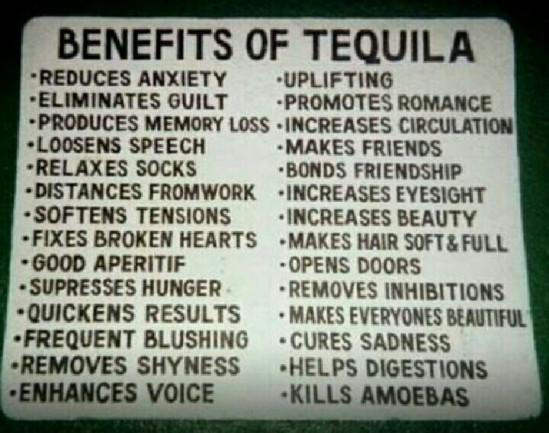 Tequila-benefici