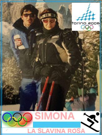 Simona con il maestro di sci (un classico dei classici, si dice sempre così...)