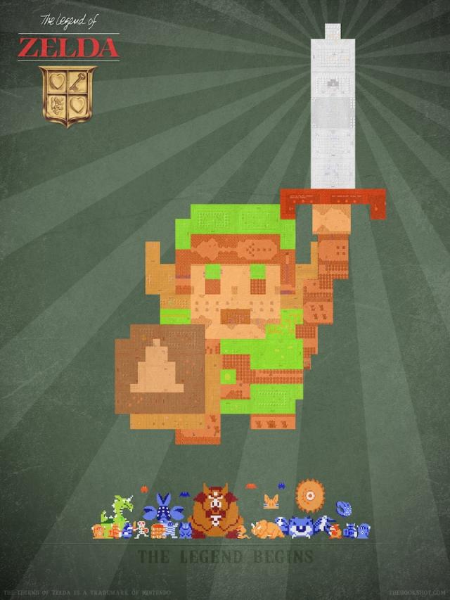 8-bit Encore: The-Legend of Zelda by thehookshot