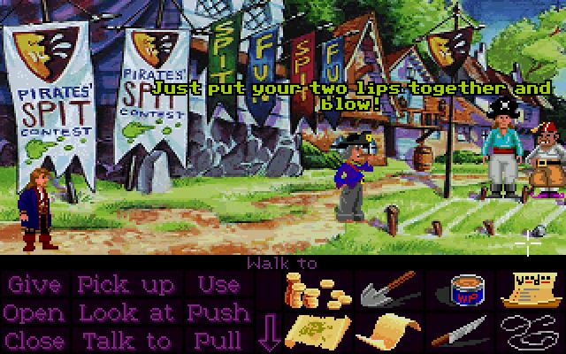 Monkey Island 2 - LeChuck's Revenge: La gara di sputi.