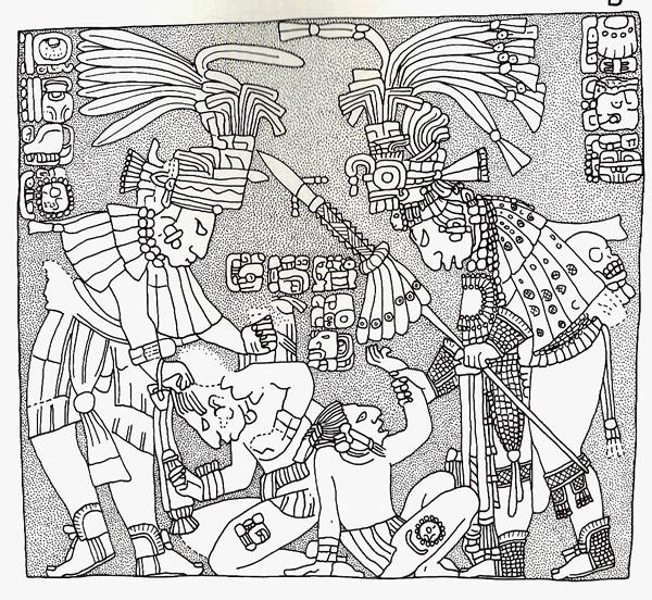 Architrave 8 di Yaxchilán (Guatemala) - (c) Dipartimento di Storia Culture Civiltà Università di Bologna