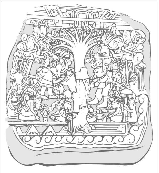 L'Albero della Vita ritratto nella Stele 5 di Izapa, sito archeologico nella regione di Soconusco, Chiapas (Mexico)