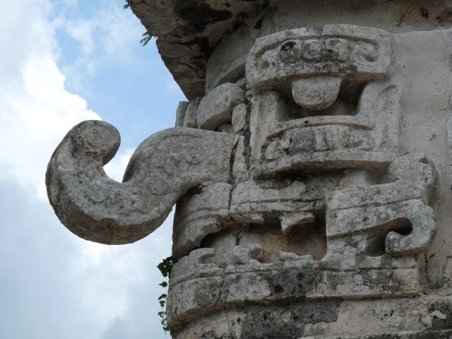 Chchén Itzá - La Iglesia - particolare del dio Chaac Forte foto: web