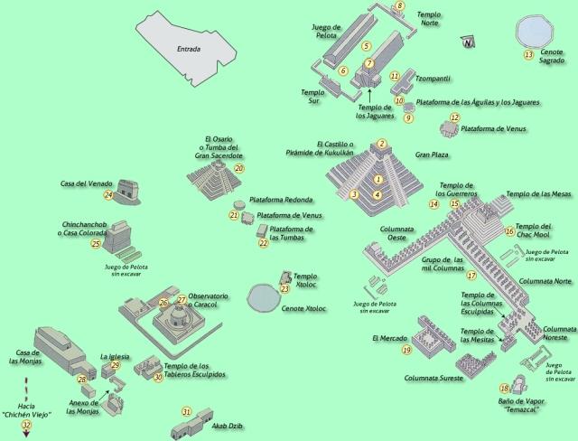 Mappa del sito archeologico