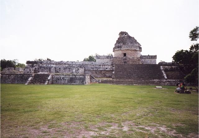 El Caracol. Notare la struttura similare ai nostrii osservatori astronomici