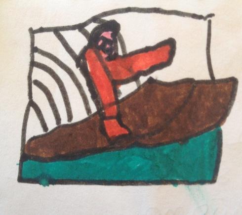 Ulisse sulla barca (disegno by Diego)