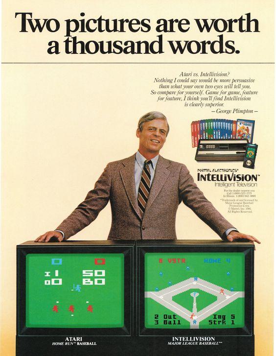 Due immagini valgono più di mille parole. A destra una schermata del Baseball per Atari VCS; a sinistra il Baseball per Intellivision. Home run per Mattel!
