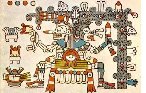 Mictlantecuhtli y Mictecacíhuatl, marito e moglie Dei della Morte. La dualità della Morte per gli Aztechi