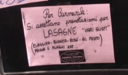 """Lasagne """"vari gusti"""""""