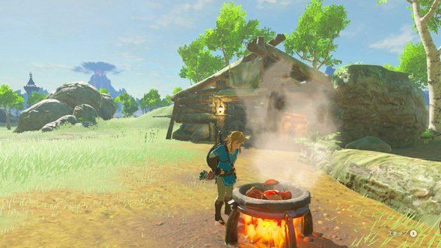 In Zelda si può cucinare conq uello che si raccoglie e trovi in giro. Questo è un gioco da leccarsi i baffi.