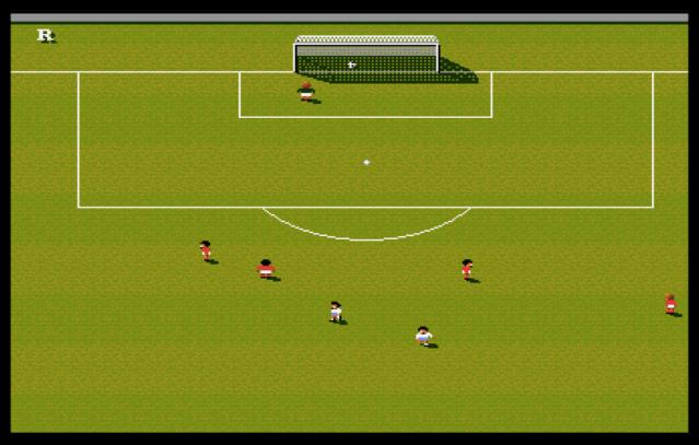 Schermata di gol in Sensible Soccer