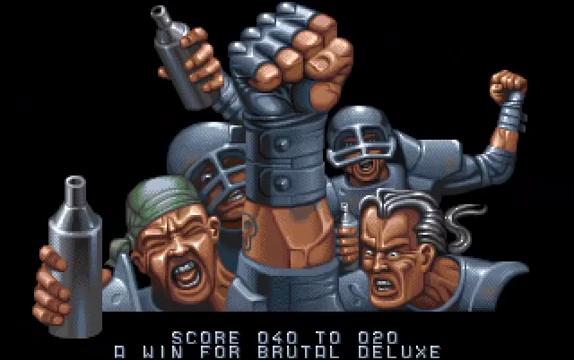 Schermata di gioco Speedball 2 per Amiga