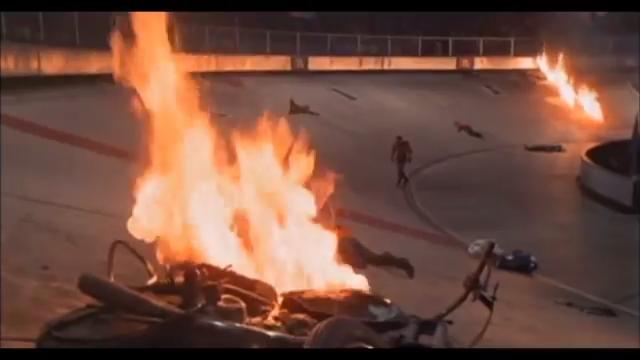 Fotogramma tratto dal film Rollerball del 1975