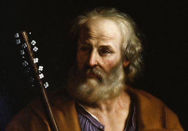 Immagine di dipinto di San Giuseppe con il bastone fiorito