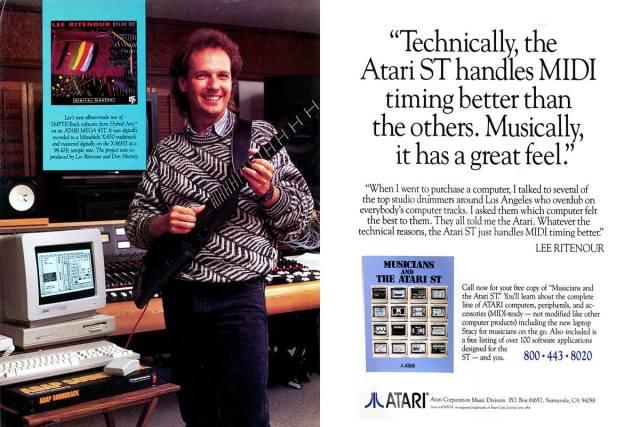 Lee Ritentour, chitarrista jazz, vincitore di un Grammy nel 1985 e nominato in altri quindici tra il 1978 e 1997, testimonial di Atari ST
