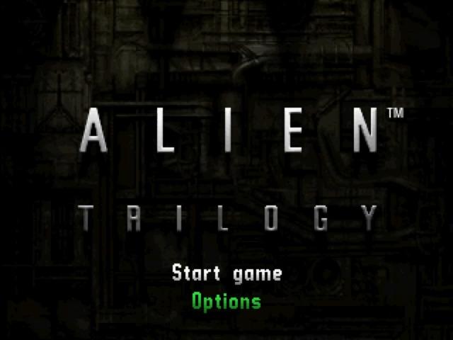 Alien Trology (PlayStation) - Schermata del menu iniziale