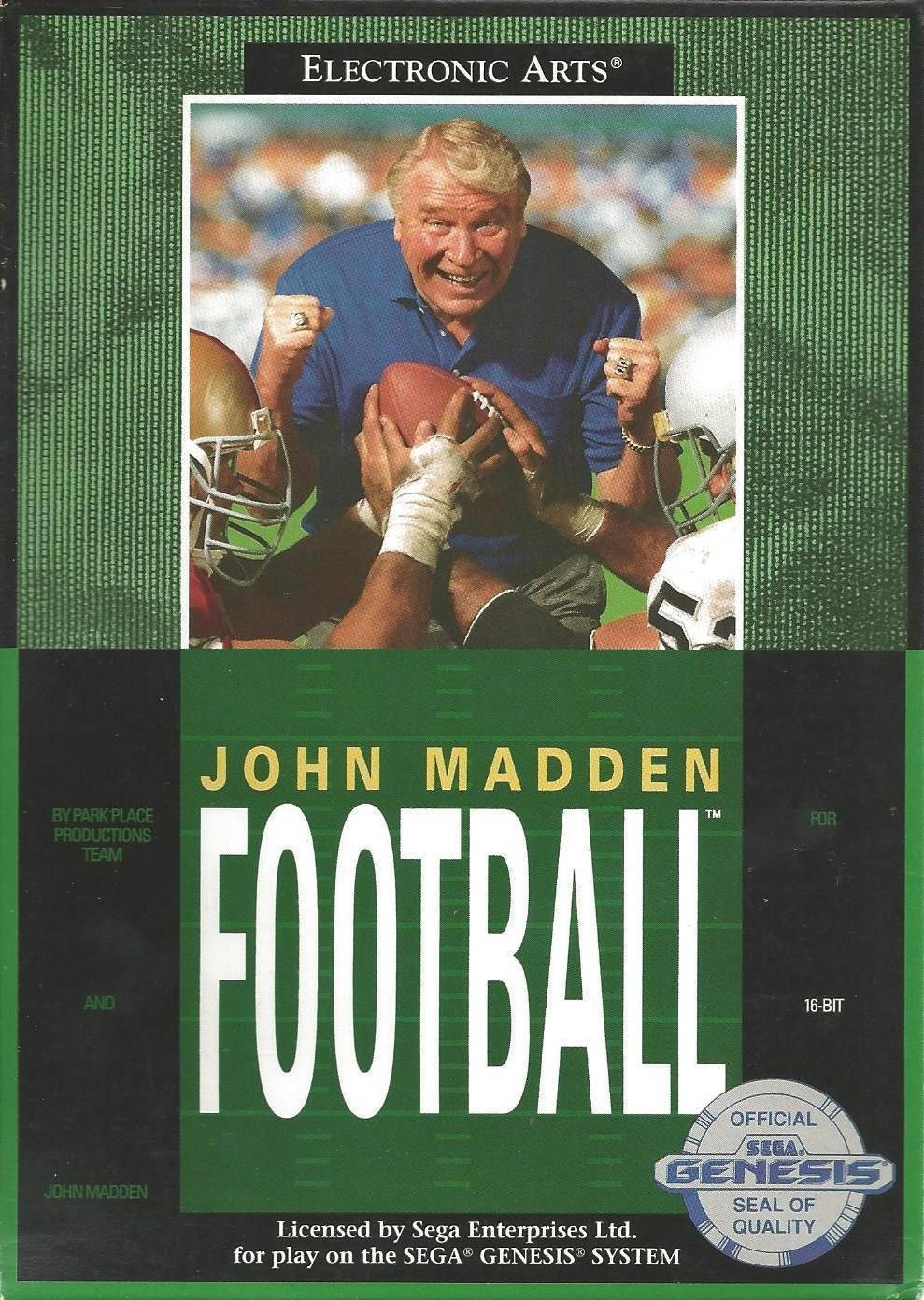 John Madden Football per Sega Genesis - versione USA