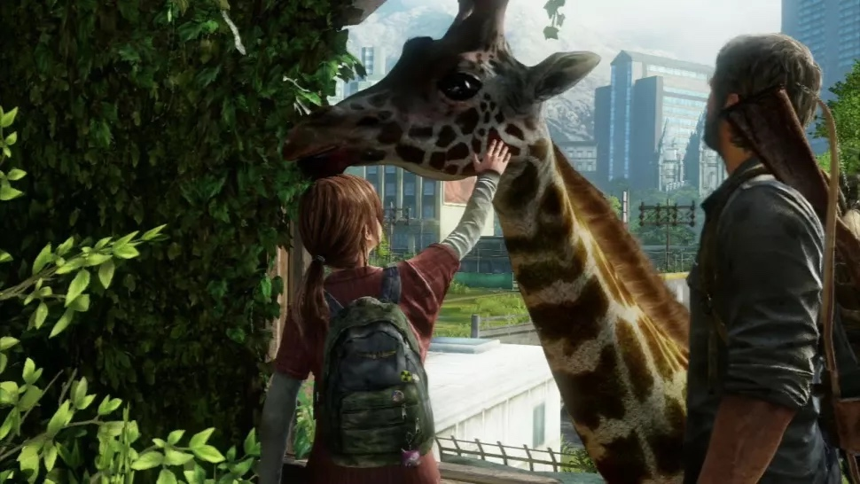 The Last of Us: incontro con le giraffe